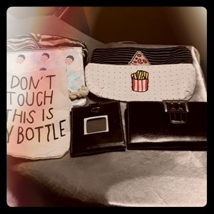 Lot 7 makeup bags, wallets, water bottle bag.